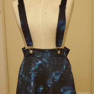 Womens skirt with suspenders